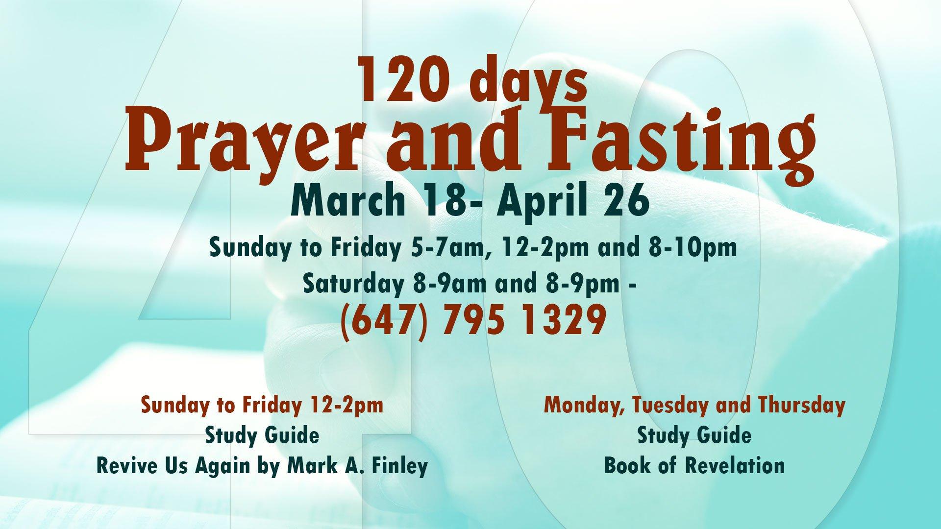 120 days of Prayer flyer