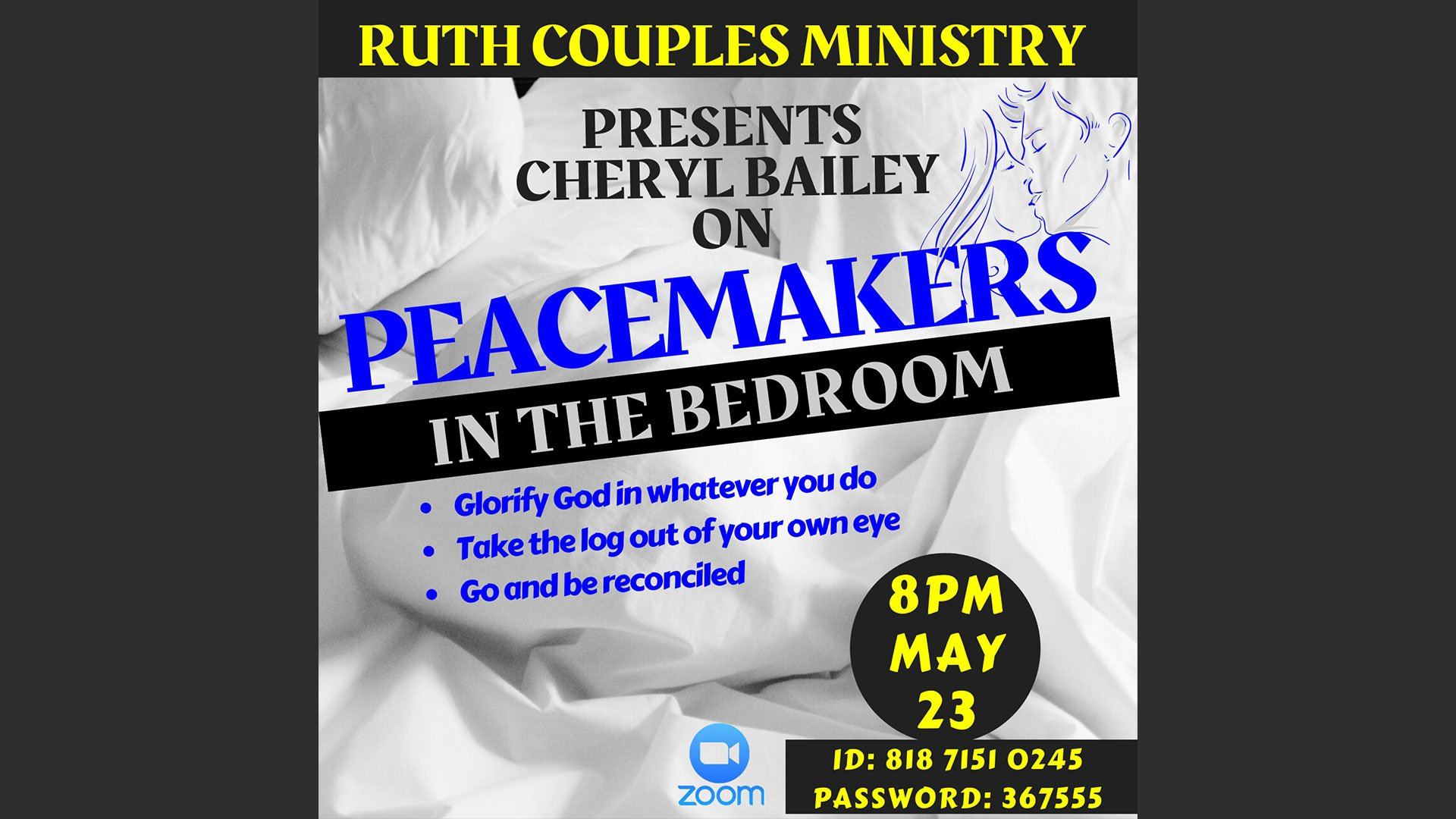 Peacemakers in the Bedroom May 23 Ruth Couples flyer