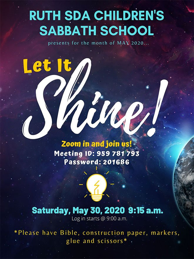Let it Shine wk5 flyer