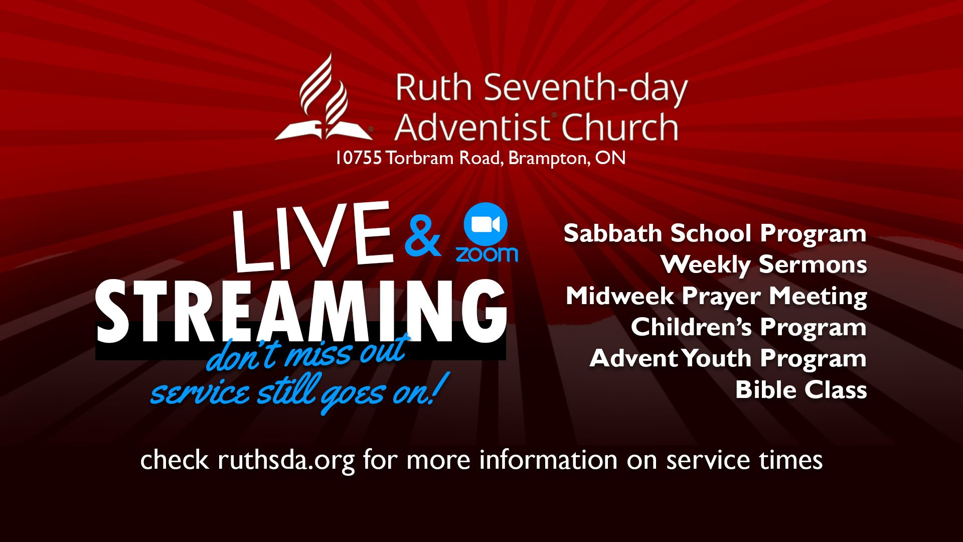 Ruth SDA Streaming flyer