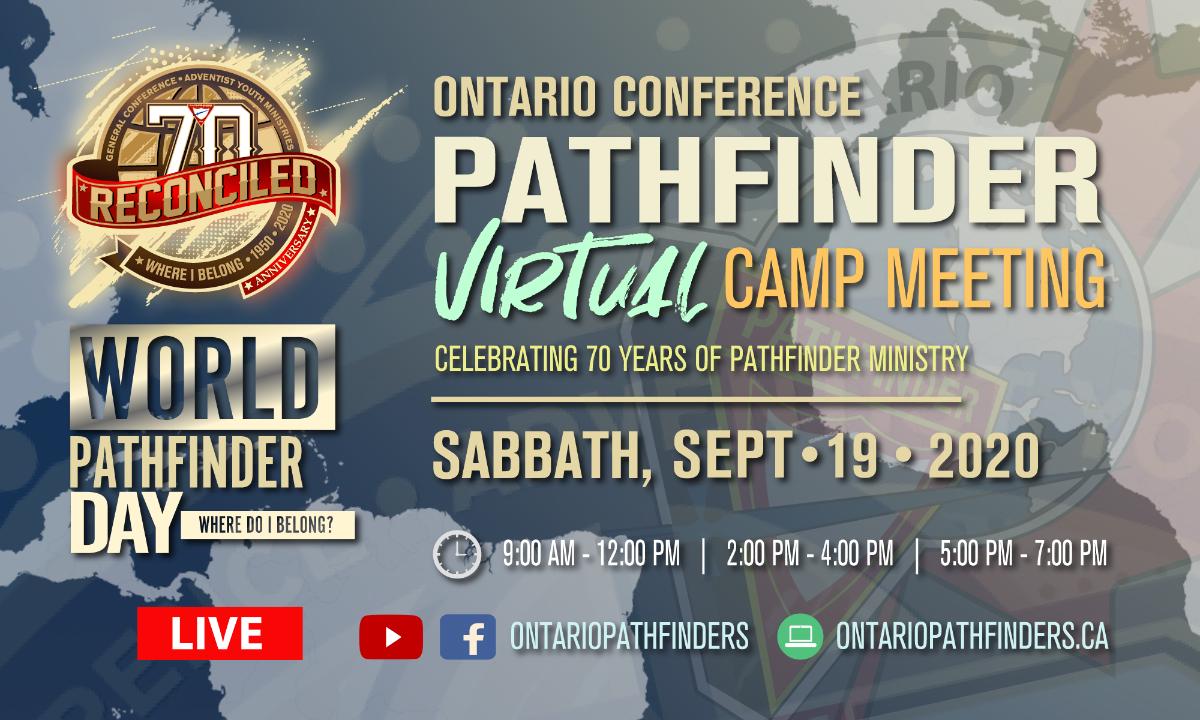 Ontario Pathfinders Virtual Camp Meeting flyer
