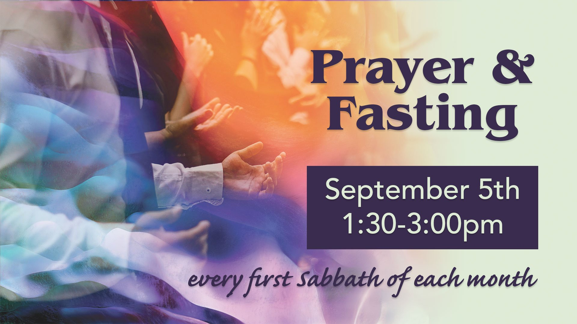Prayer & Fasting Sep5