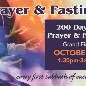 200 Days Prayer & Fasting flyer