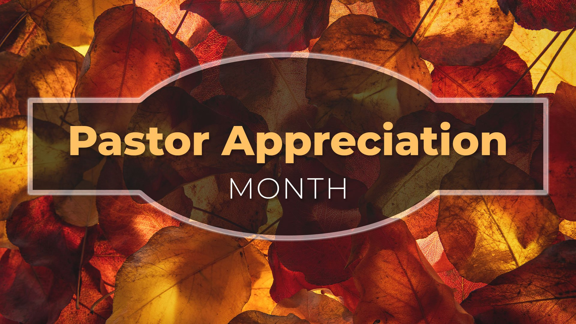 Pastor Appreciation Month flyer