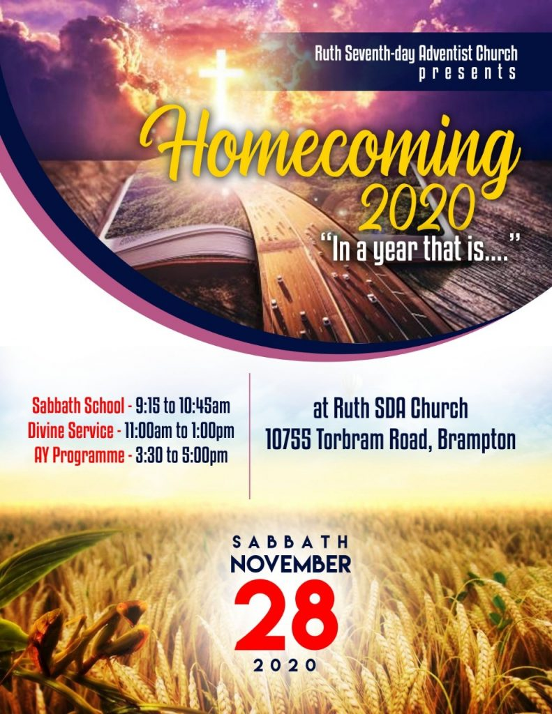 Homecoming 2020 flyer