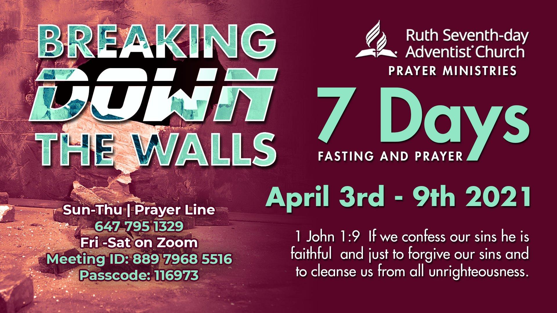 Prayer Summit flyer April
