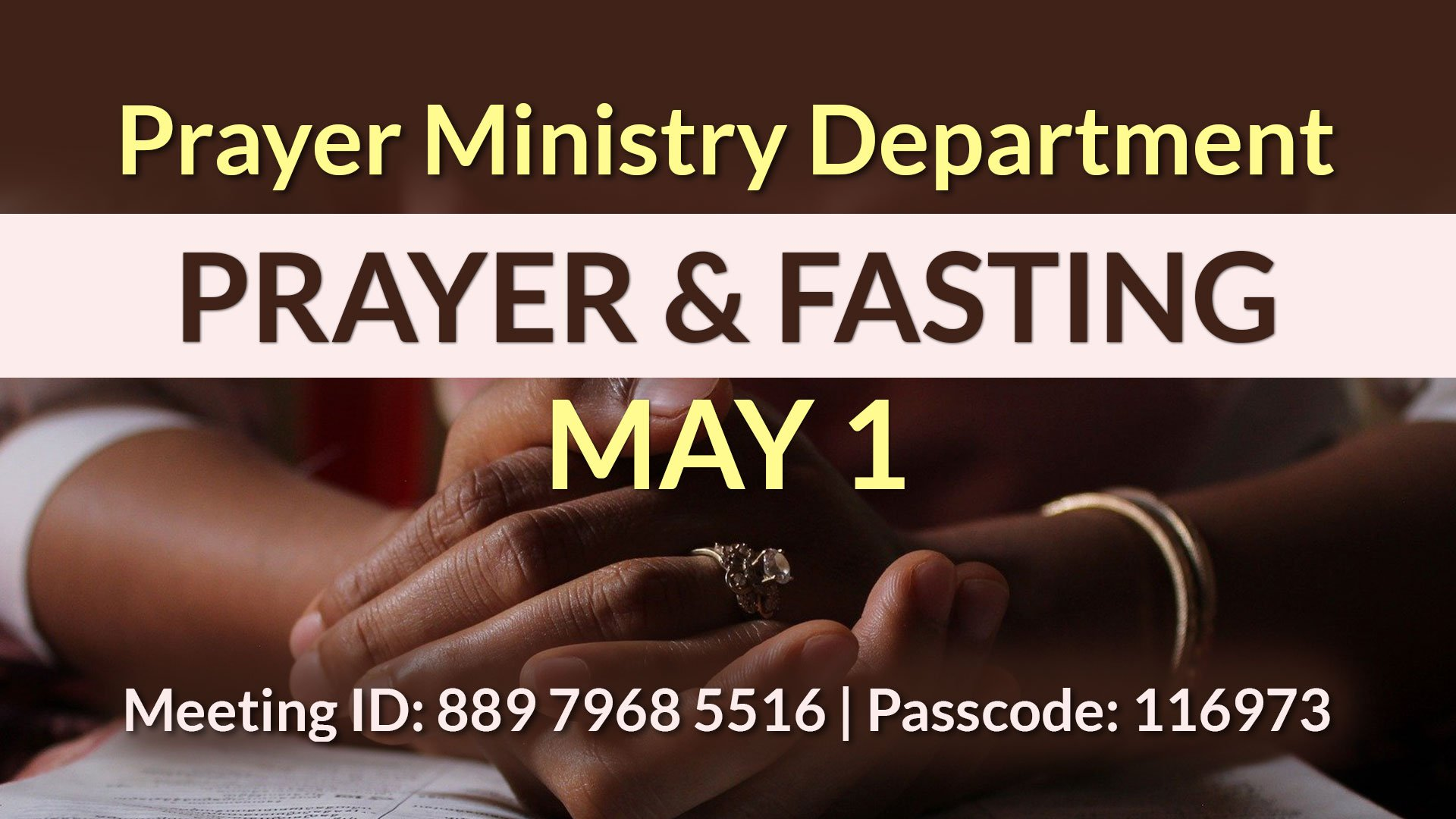 Prayer & Fasting May 1
