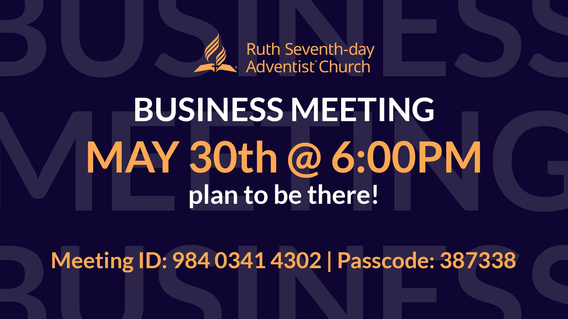 Church Business Meeting May 2021