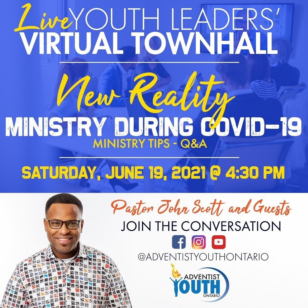 Youth Leaders Virtual Townhall flyer