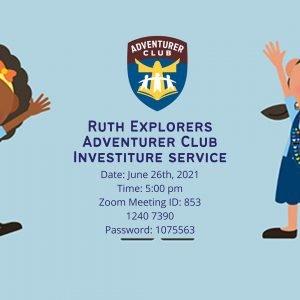 Ruth Explorers Investiture Service