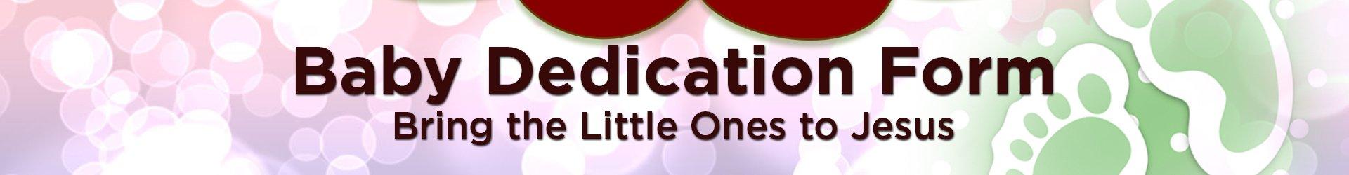 Baby Dedication Form graphic
