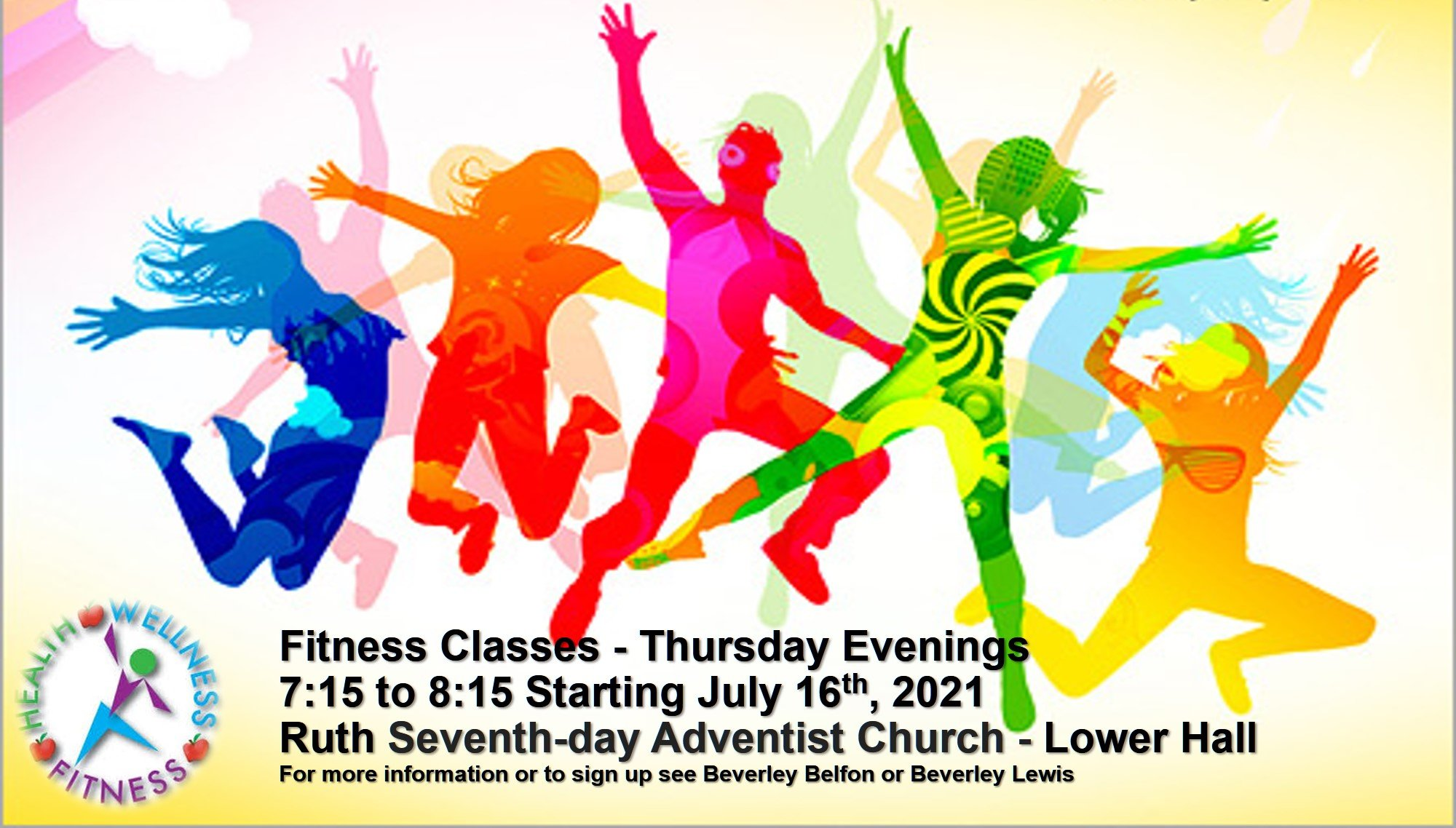 Fitness Classes RuthSDA flyer