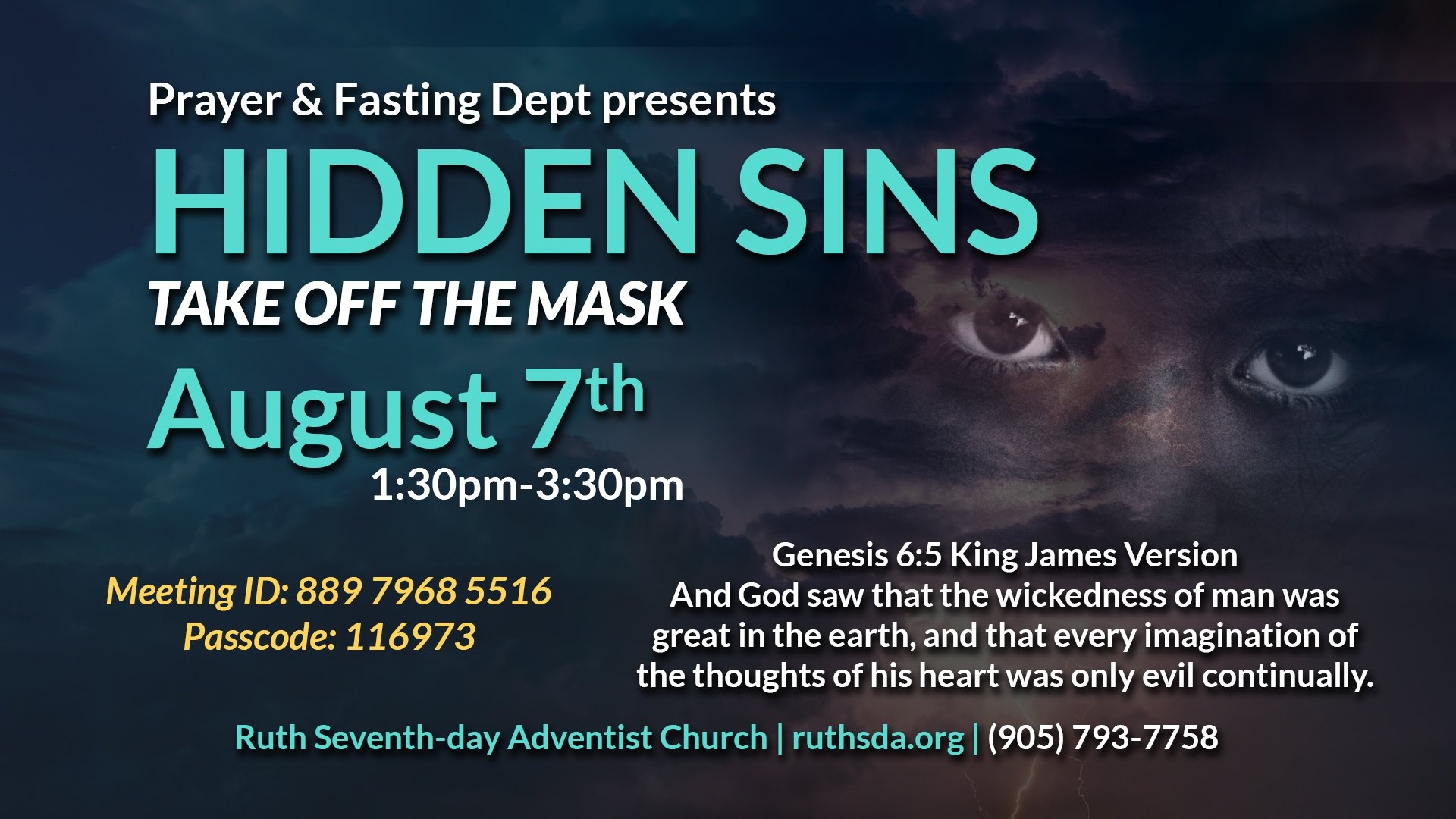 Prayer Fasting Aug 2021 flyer
